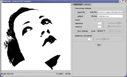 Screenshot of Delineate raster to SVG converter 0.5 on GNU/Linux